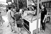 eduKate is committed to community development. 2014, and we set up an ice cream stand serving community and creating a chance for community building.