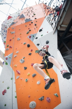 I fell off a wall... and it was awesome! eduKate Student learns to fall and dust off the disappointment, persevere through the pain and get to the top