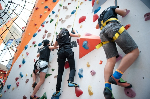 eduKate students attending an indoor wall climbing event for our holistic student programme