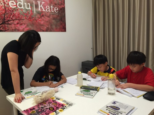 eduKateSG Primary Students at Punggol Tuition Centre Prive Condominium doing PSLE SEAB Syllabus English Lower Primary 3 and 4