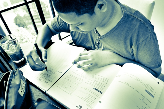 eduKate Singapore Tampines Tuition Centre Student doing Secondary Math