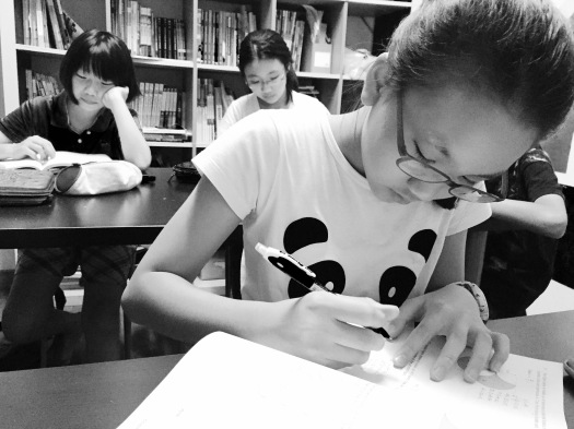 PSLE Student doing MOE SEAB Syllabus PSLE Mathematics Singapore in Tampines Tuition Centre Class for St Hilda Primary