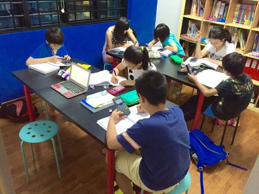 PSLE Student doing Mathematics MOE SEAB Syllabus Singapore in Tampines Tuition Centre Class