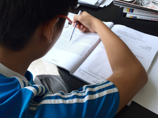 Student attempting @ Sec 3, English MOE GCE O-levels Exam Papers TYS