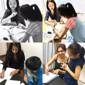 In our Punggol Tuition Centre for English, all our student's work are marked and checked to make sure their work are done correctly.