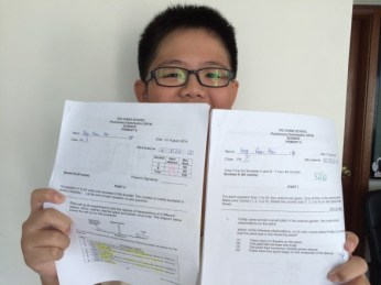 This boy did a 256 for his PSLE.