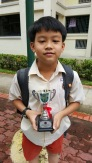 eduKate Singapore student 2nd Prize in Maths Quiz Primary5